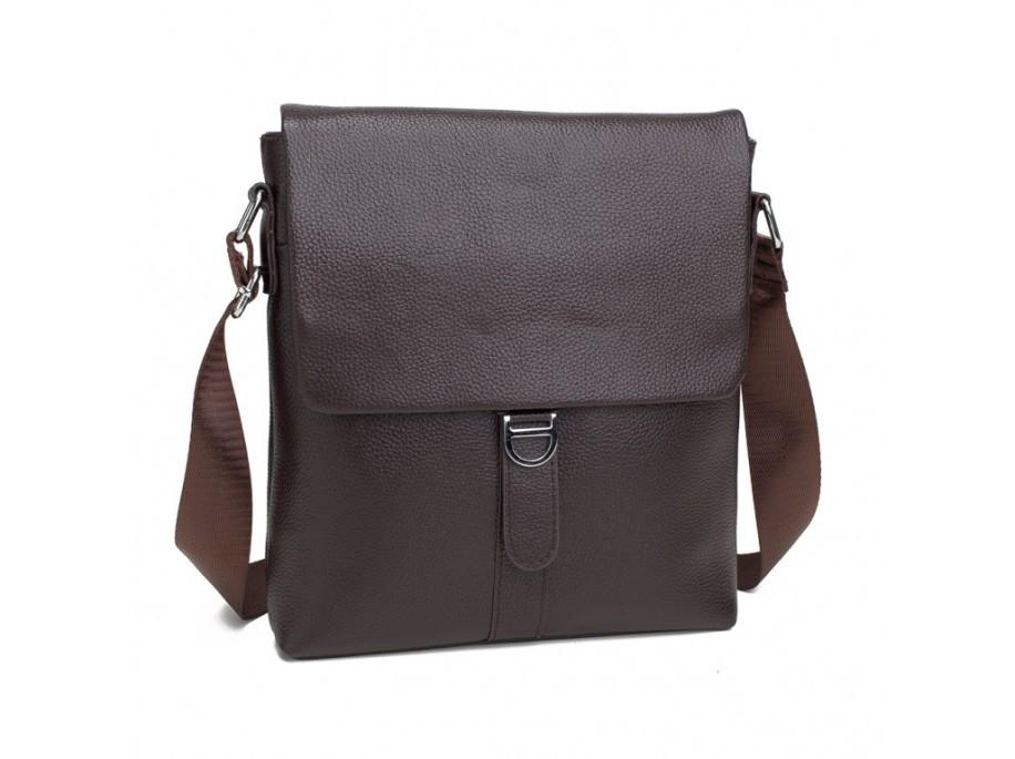 Мужская сумка (мессенджер) из натуральной кожи, коричневого цвета.ТОП КАЧЕСТВО !!!