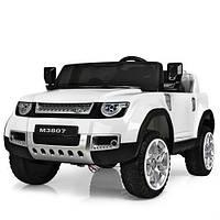 Детский электромобиль Джип «Land Rover» M 3807EBLR-1 (Белый)