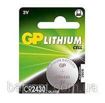 Батарейка литиевая GP CR2430-U5 Lithium 3V дисковая таблетка