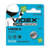Батарейка литиевая Videx CR1220-U5 Lithium 3V дисковая таблетка