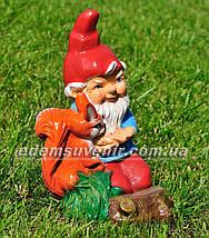 Садовая фигура Гномы малые с животными, фото 3