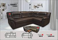 Угловой диван Хаммер 2.6 шоколад Элизиум, фото 1
