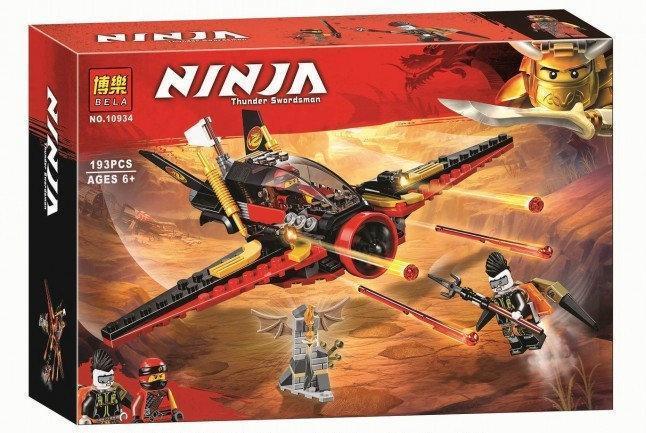 """Конструктор Bela 10934 Ninja """"Крыло судьбы"""" (аналог Lego Ninjago 70650) 193 дет"""