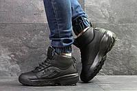 Кроссовки мужские Fila Yalor зима кожаные высокие модные кроссовки фила на платформе черные, ТОП-реплика, фото 1