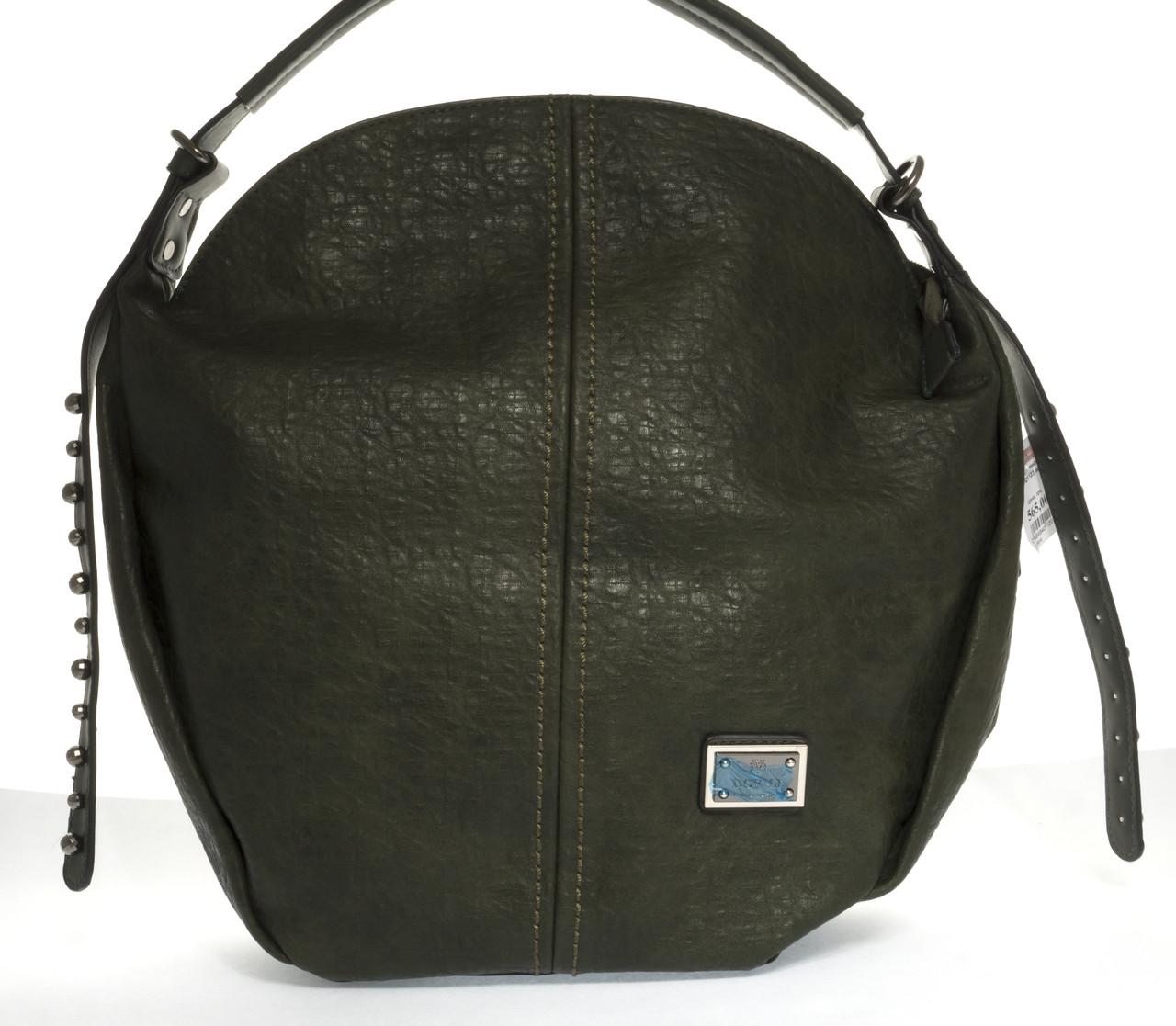 Вместительная стильная прочная модная качественная женская сумка круглой формы DOVILIart. QN1123