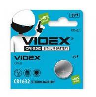 Батарейка литиевая Videx CR1632-U5 Lithium 3V дисковая таблетка