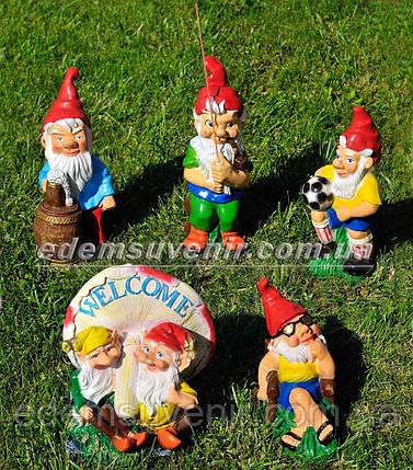 Садовая фигура Гномы малые на отдыхе, фото 2