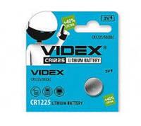 Батарейка литиевая Videx CR1225-U5 Lithium 3V дисковая таблетка