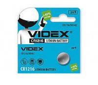 Батарейка литиевая Videx CR1216-U5 Lithium 3V дисковая таблетка