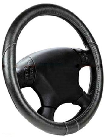 Чехол на руль черный с белой нитью размер М Elegant Plus EL 105430