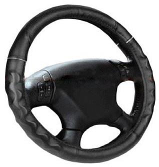 Чехол на руль черный с белым ободком размер М Elegant Plus EL 105450
