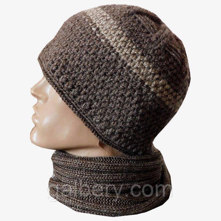 Зимова шапка і шарф бафф ручної роботи