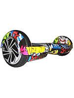 Гироборд Smart Balance Wheel 6.5 Граффити желтый