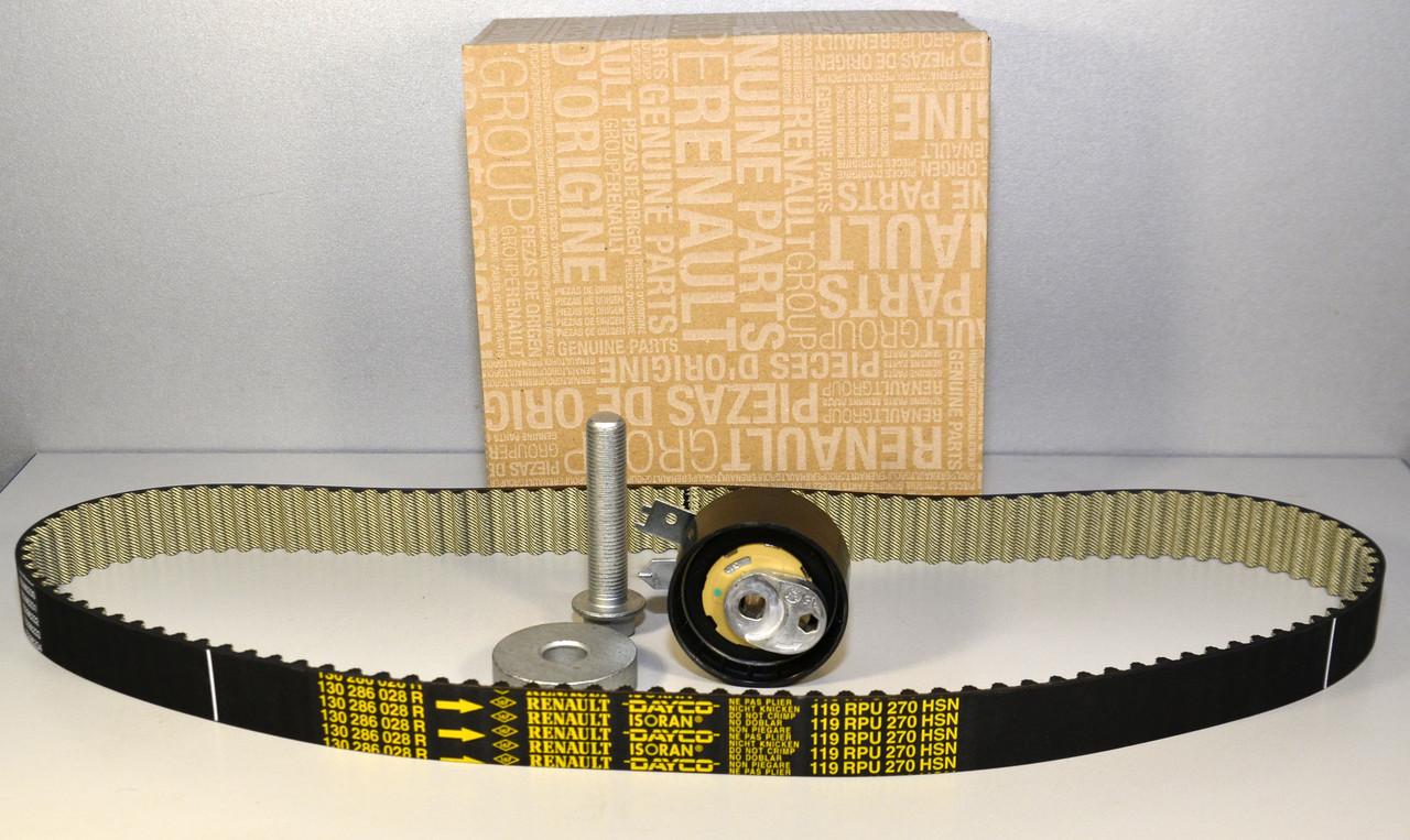 Комплект натяжитель + ремень ГРМ на Renault Logan II 2012-> 1.5dCi - Renault (Оригинал) - 130C11508R