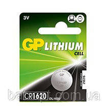 Батарейка литиевая GP CR1620-U5 Lithium 3V дисковая таблетка