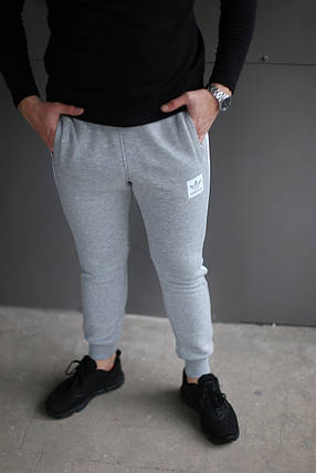 Зимние спортивные брюки Adidas Original серый , фото 2