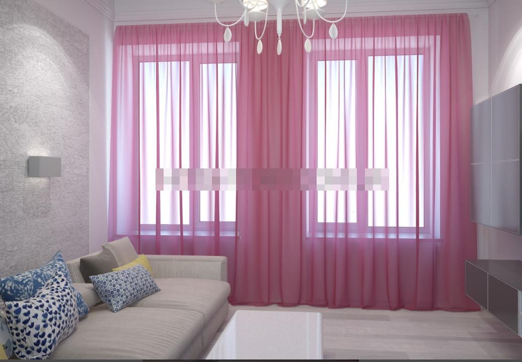 Шторы из  Шифона Сиренево - розовые, фото 1