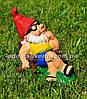 Садовая фигура Гномы малые на отдыхе, фото 4