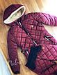 "Зимний женский теплый дутый костюм на овчине""Tommy"" , фото 3"