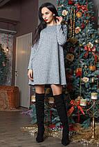 Женское свободное платье с люрексом (Аэлита mrb), фото 3