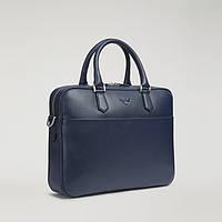 Мужской кожаный портфель Armani