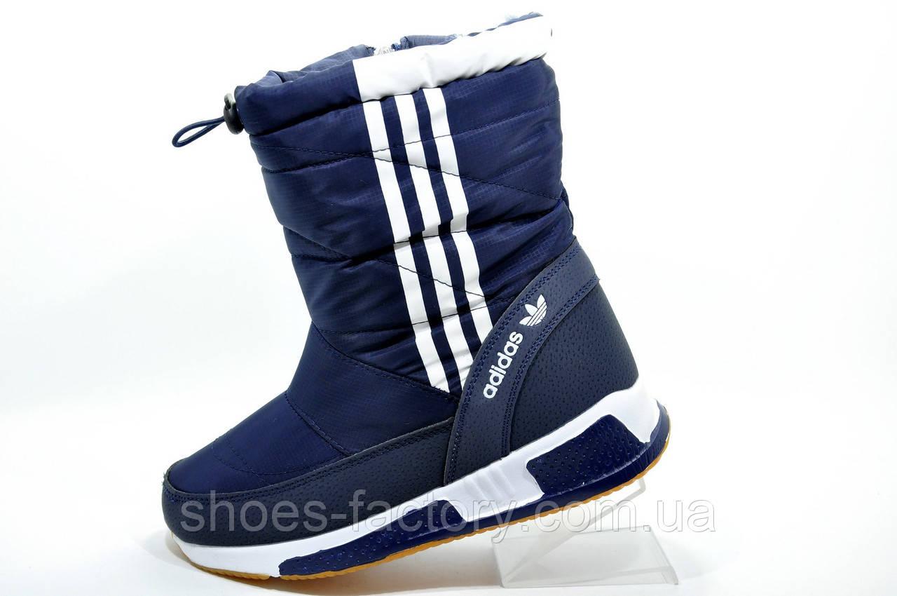 Спортивные сапоги в стиле Adidas, на меху