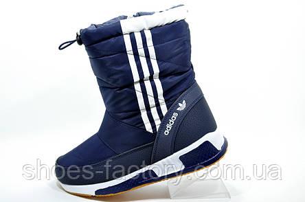 Спортивные сапоги в стиле Adidas, на меху, фото 2