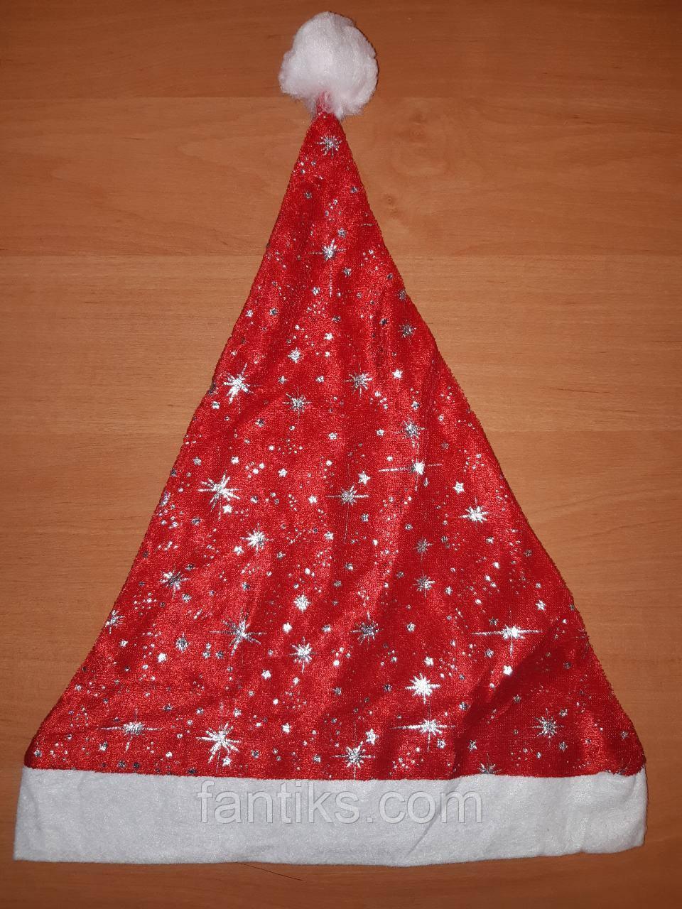 Новогодняя велюровая шапка стандартная (головной убор)
