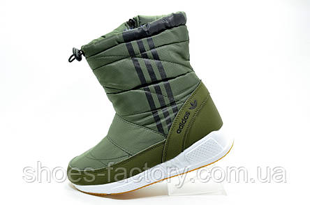 b55bf5e4 Женские сапоги дутики в стиле Adidas, Khaki\Green (Адидас), фото 2