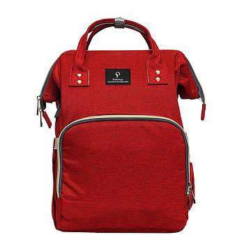 Сумка-рюкзак для мам, Mummy Bag, Baby Mo. -- КРАСНАЯ D100