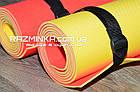 Йога мат 1800х600х4мм (красно/желтый), фото 2