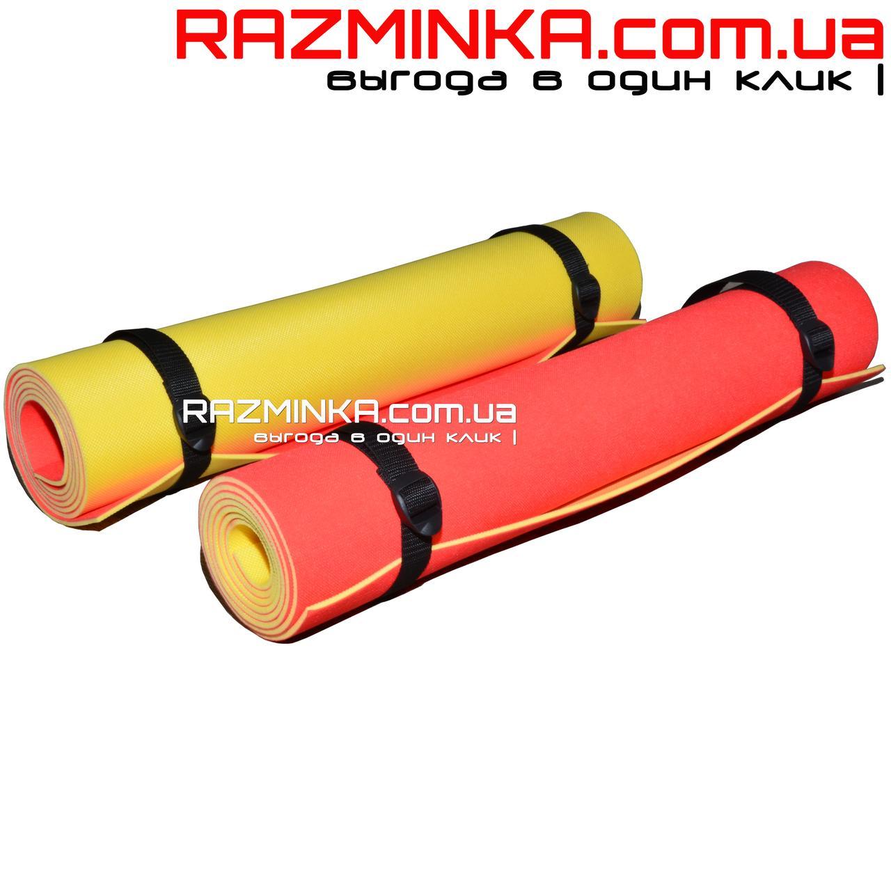 Йога мат 1800х600х4мм (красно/желтый)
