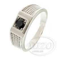 Перстень с черным цирконом 02104713