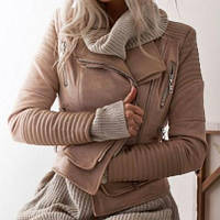 Жіноча шкіряна куртка. Модель 18224, фото 2