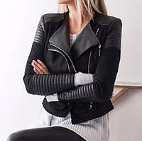 Жіноча шкіряна куртка. Модель 18224, фото 3