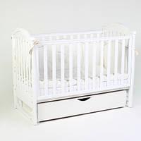 Детская кроватка Верес Соня ЛД 3 маятник+ящик (белый)