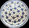 Керамическое блюдо Ø32 с рантом Dark asters