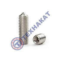 Винт М6х12 ГОСТ 8878-93 (DIN 914, ISO 4027) - гужон установочный под шестигранный ключ