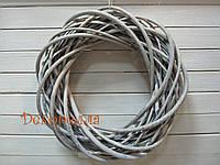 Венок из лозы 35см, серый