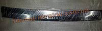 Накладка на задний бампер без загиба надпись гравировка для Geely Emgrand EC7 2012+ седан