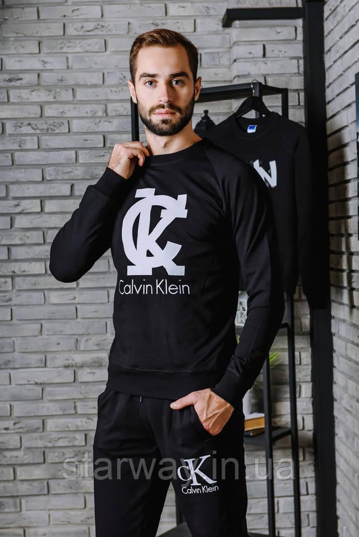 Спортивный чёрный костюм CK logo | в стиле кельвин кляйн