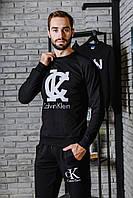 Спортивный чёрный костюм CK logo | в стиле кельвин кляйн, фото 1
