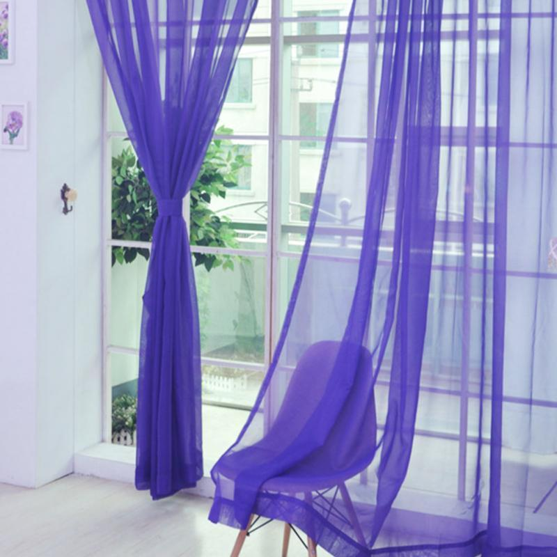 Шторы из  Шифона  Фиолетовые