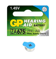Батарейка для слуховых аппаратов GP ZA675-D6 PR44 аналог AG13 1.4V