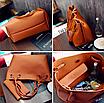 Женская сумка большая молодежная с кошельком шоппер Серый, фото 4