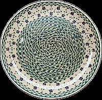 Керамическое Блюдо Ø32 Green swirl