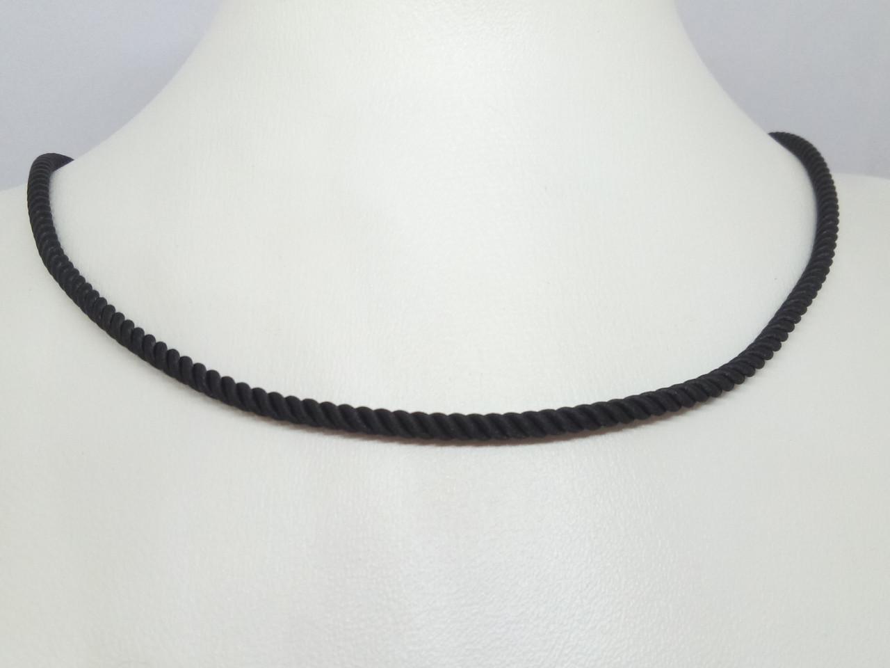 Ювелирный шелковый шнурок с золотыми вставками. Артикул ПК100И 55