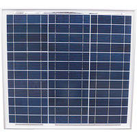 Сонячна батарея (панель) 30Вт, 12В, полікристалічна, PLM-030P-36, Perlight Solar
