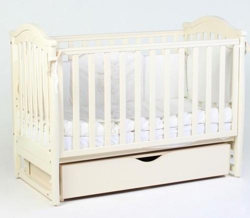 Детская кроватка Верес Соня ЛД 3 (белый) маятник + шухляда