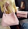 Сумка женская большая молодежная с кошельком шоппер Розовый